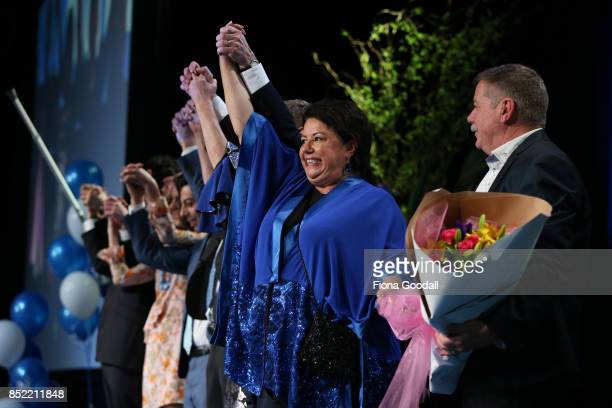 National's Paula Bennett thanks supporters at Sky City on September 23 2017 in Auckland New Zealand With results too close to call no outright winner...