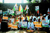 IND: NCP Stages Protest Against BJP Government In Navi Mumbai