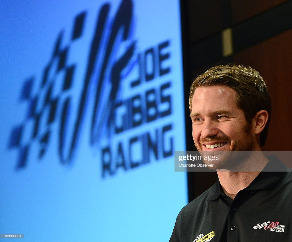 Nationwide and Sprint Cup Series driver Brian Vickers during the Sprint NASCAR Media Tour on Thursday, January 24, 2013, at the NASCAR Hall of Fame in Charlotte, North Carolina.