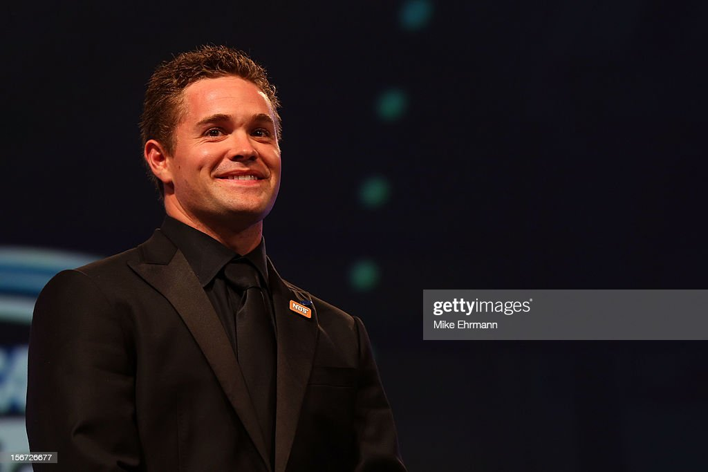 Nationwide Series Champion Ricky Stenhouse Jr. looks on during the NASCAR Nationwide Series And Camping World Truck Awards Banquet at Loews Miami Beach on November 19, 2012 in Miami Beach, Florida.