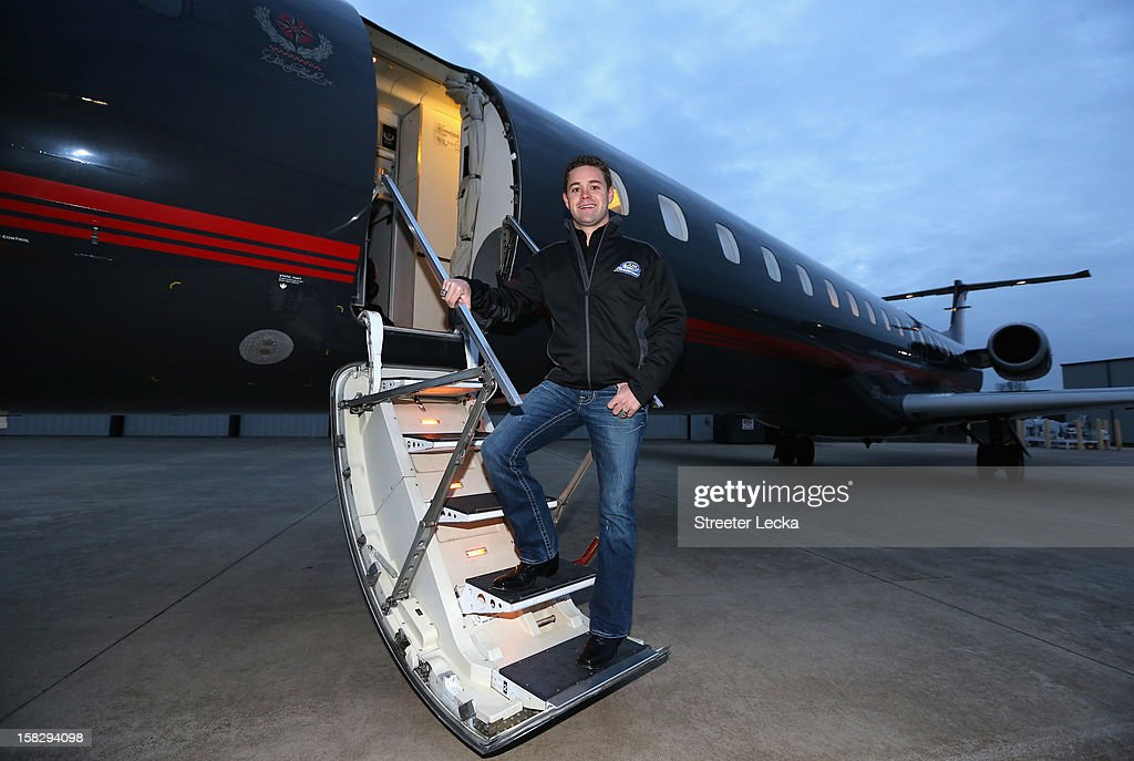 Nationwide Series Champion Ricky Stenhouse Jr. prepares for his flight to the Nationwide Headquarters during the NASCAR Nationwide Series Champion's Day on December 12, 2012 in Columbus, Ohio