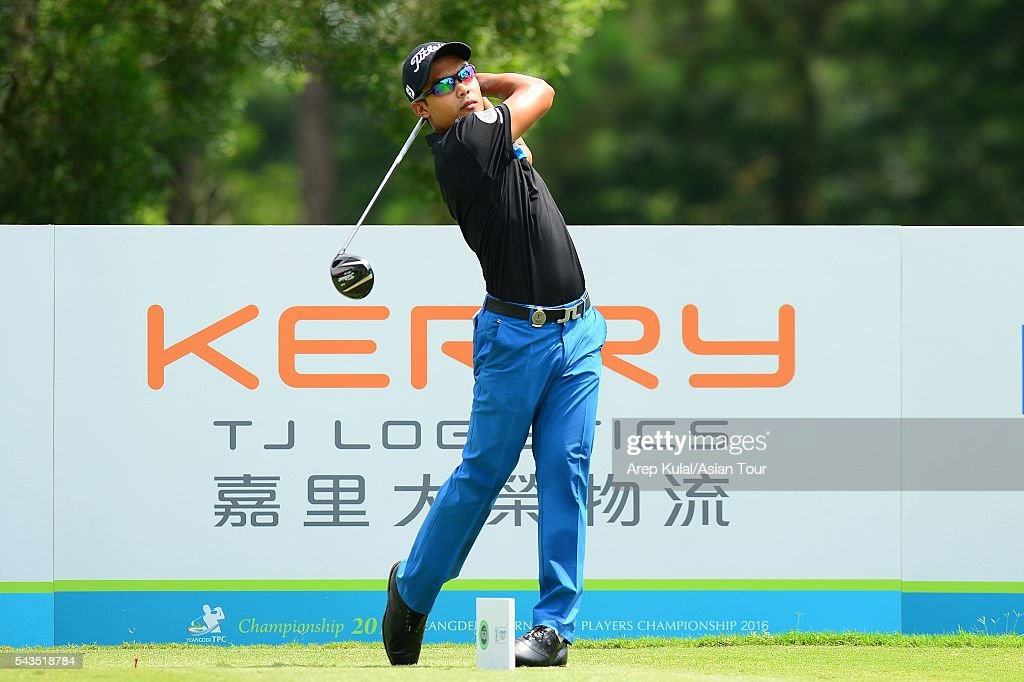 Natipong Srithong of Thailand pictured during the ProAM tournament ahead of Yeangder Tournament Players Championship at Linkou International Golf Club on June 29, 2016 in Taipei, Taiwan.