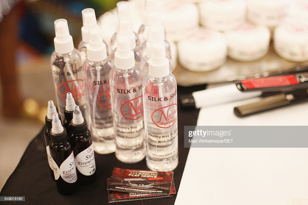 Natita's New Beginnings products are displayed in the BETX gifting suite during the 2016 BET Experience on June 25, 2016 in Los Angeles, California.