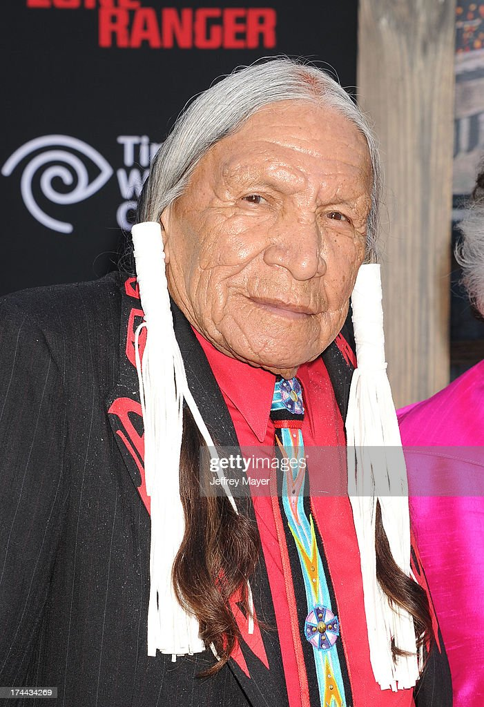 Native American arrives at 'The Lone Ranger' World Premiere at Disney's California Adventure on June 22, 2013 in Anaheim, California.