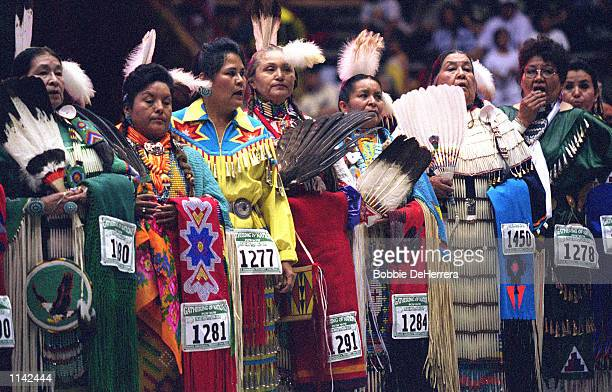 Native American dancers representing more than 700 tribes from Canada and the United States gathered for the 18th Annual Gathering of Nations Powwow...