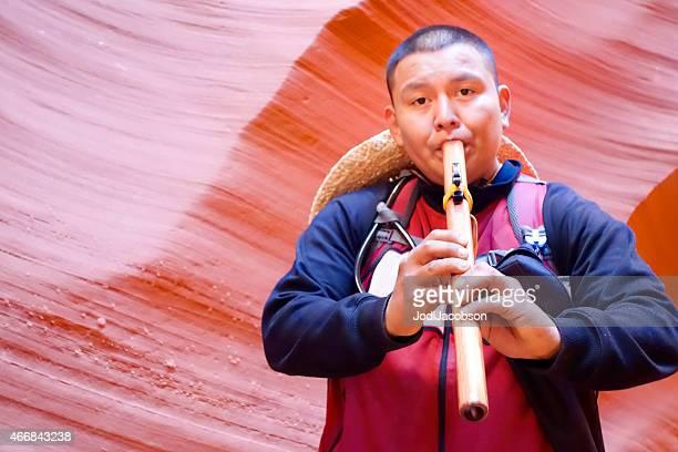Native American Flute Player Antelope Canyon Page Arizona