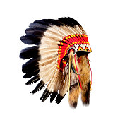 'native american indian chief headdress (indian chief mascot, indian tribal headdress, indian headdress)'