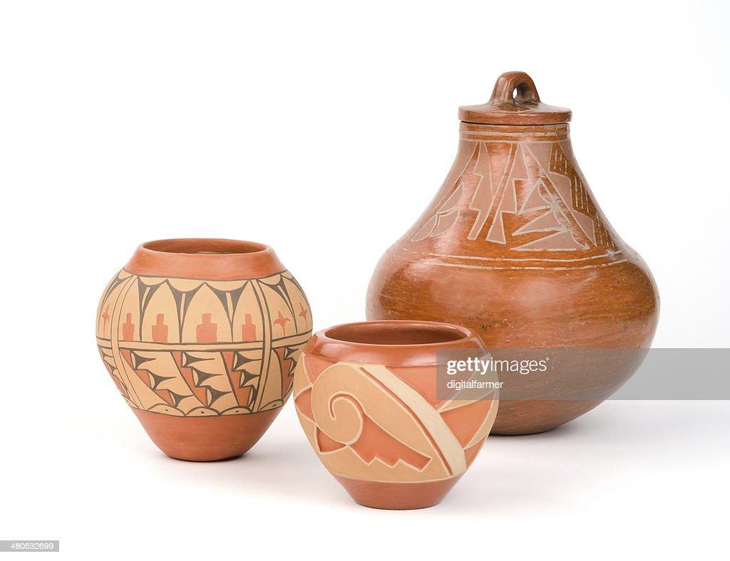 Native American Pueblo Pottery. : Stockfoto