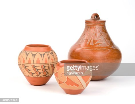 Native American Pueblo Pottery. : Stockfoto