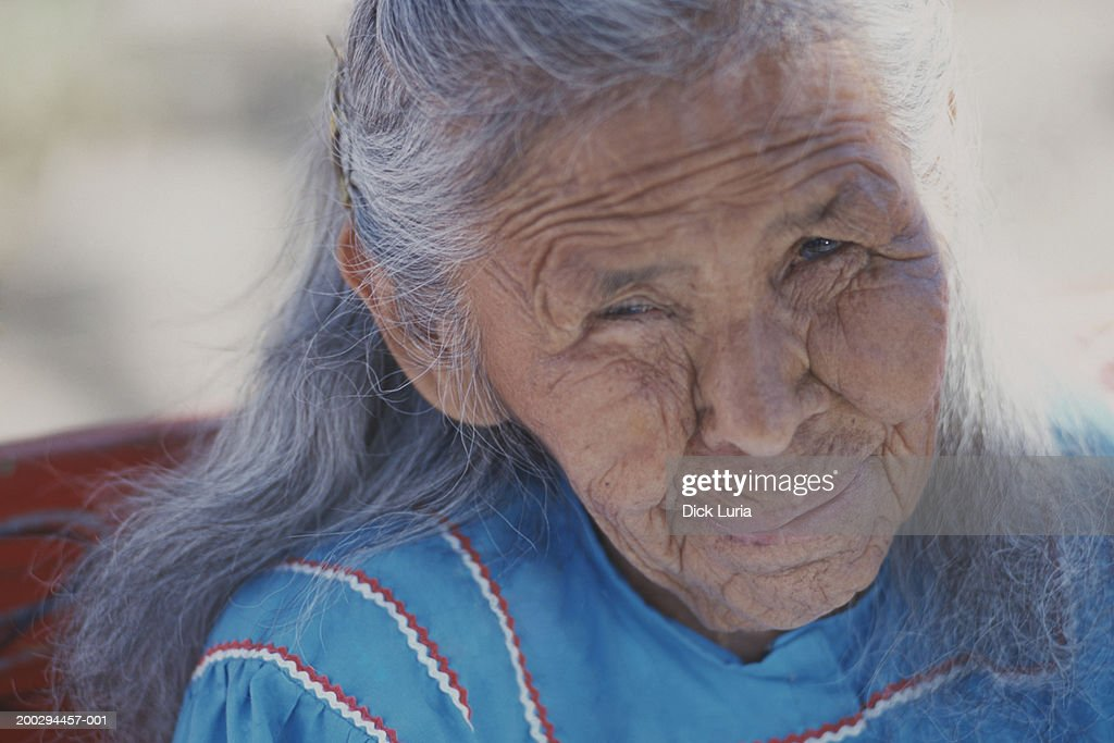 native american senior woman : Stock Photo