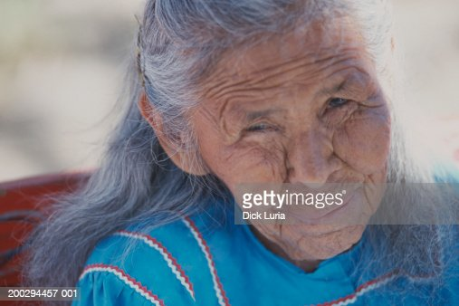 native american senior woman : Stock Photo