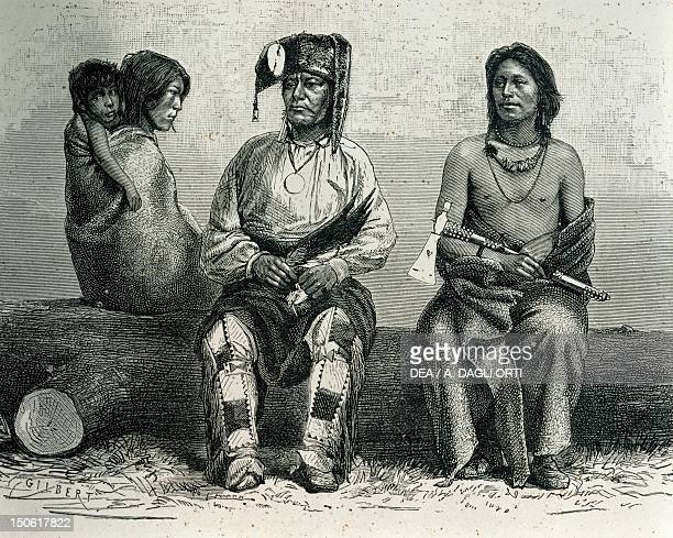 Native Americans from the Pawnee tribe Native American Civilization United States 19th century