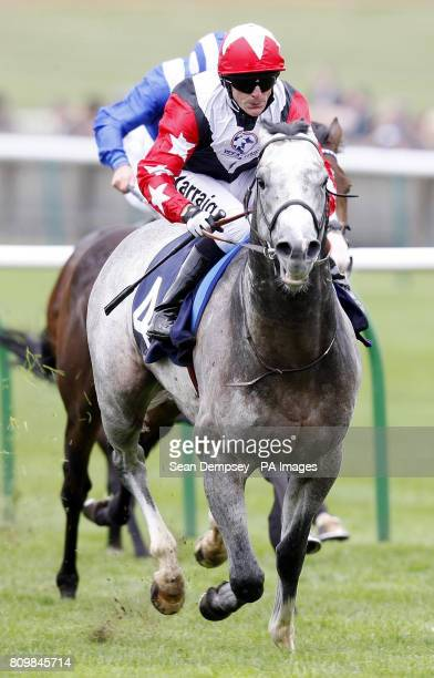 Native Khan ridden by Kieren Fallon on their way to winning the Breeze Up Vendors Craven Stakes during day two of The Craven Meeting at Newmarket...