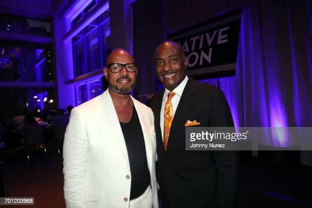 Native Son Awards Creator Emil Wilbekin and honoree Reggie Van Lee attend the 2017 Native Son Power Presence And Excellence Awards at Conrad Hotel on...