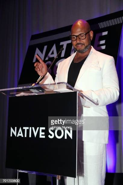 Native Son Awards Creator Emil Wilbekin speaks at the 2017 Native Son Power Presence And Excellence Awards at Conrad Hotel on June 21 2017 in New...