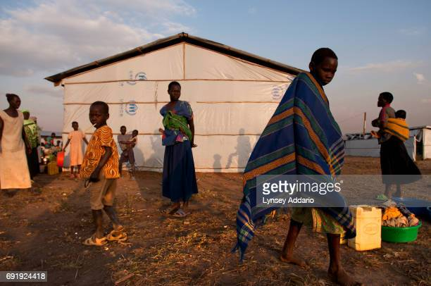 Native Southern Sudanese wait at a UNHCR weigh station in Kajo Keji to be registered before returning to their villagers shortly after returning from...