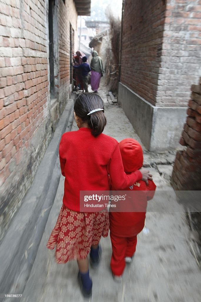 Native village of Delhi Gang Rape victim on January 10, 2013 in Ballia, India. Uttar Pradesh administration is working overtime to prepare for Chief Minister Akhilesh Yadav's expected visit on January 12 to give a cheque to the father of the gangrape victim who died in Singapore after being brutally raped and tortured on a bus.