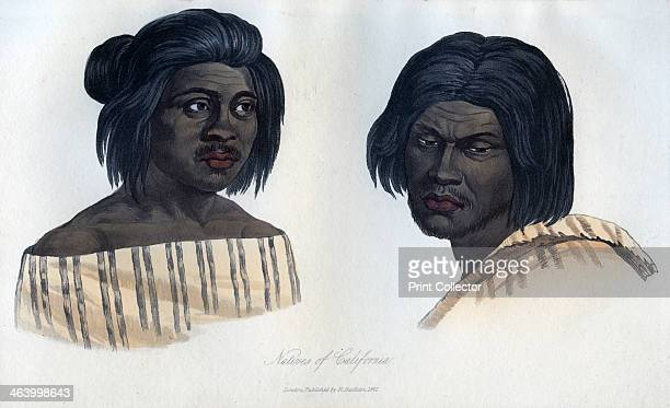 'Natives of California' 1848 An engraving from the Natural History of Man by James Cowles Prichard