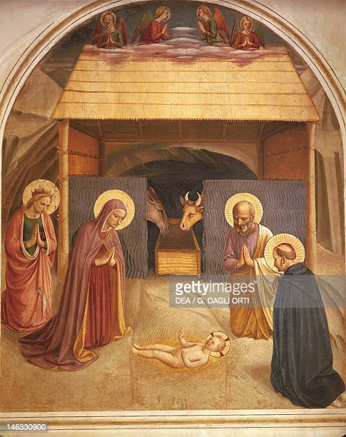Nativity 14371445 by Giovanni da Fiesole known as Fra Angelico fresco Cells of the first floor Convent of St Mark's Florence