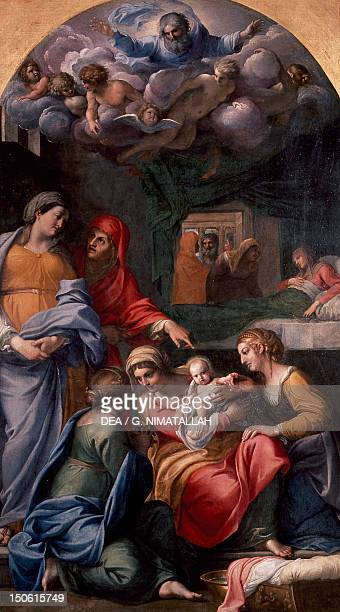 Nativity of the Virgin 16051609 by Annibale Carracci oil on canvas 279x159 cm