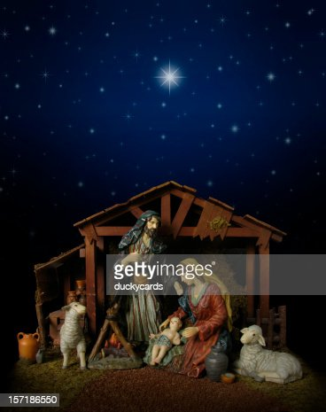 Nativity Scene at Night (with stable)