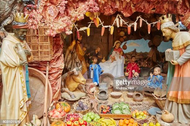Nativity scene model, Museo de Piedras in Aguatona, Gran Canaria. Canary Islands, Spain.