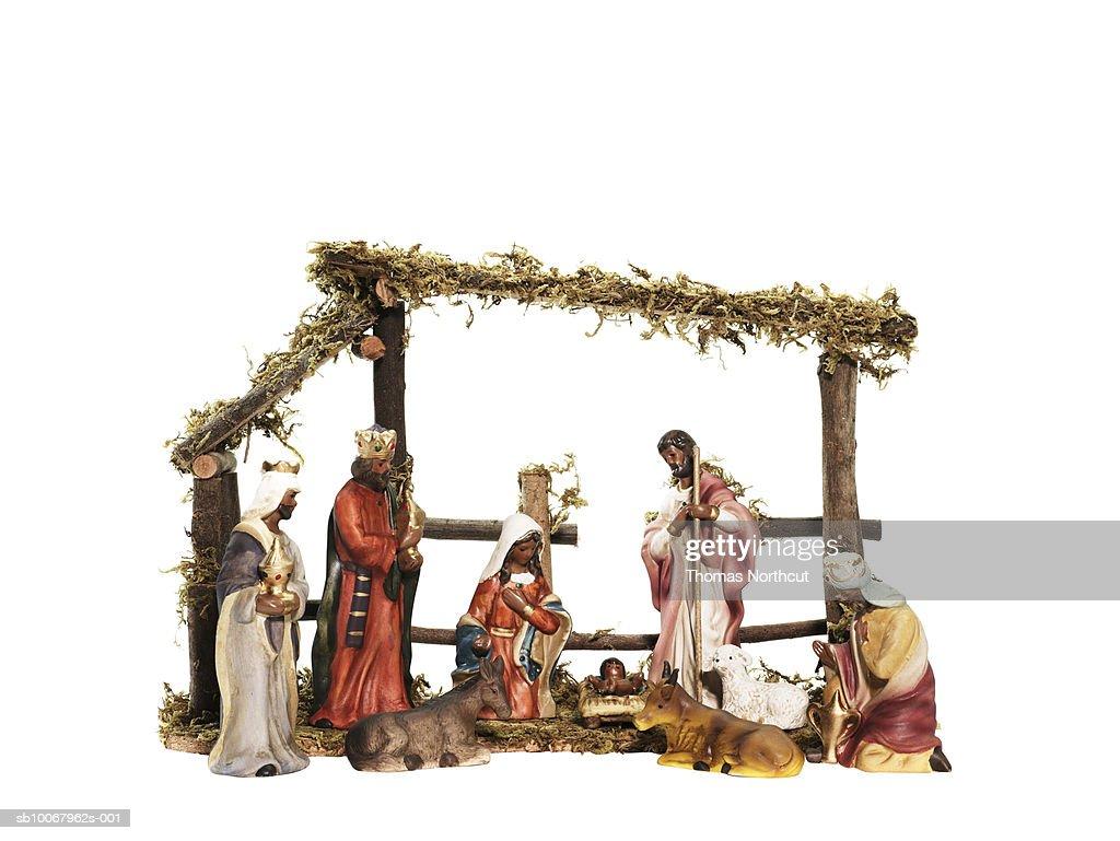 Nativity scene, studio shot