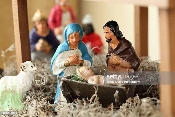 Nativity set, antique