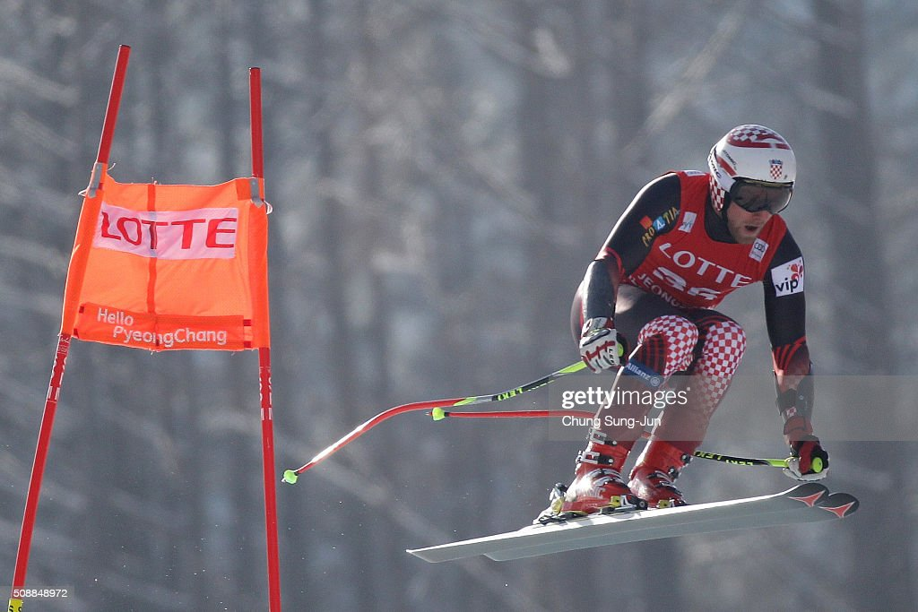 Natko Zrncic Dim of Croatia competes in the Men's Super G Finals during the 2016 Audi FIS Ski World Cup at the Jeongseon Alpine Centre on February 7, 2016 in Jeongseon-gun, South Korea.