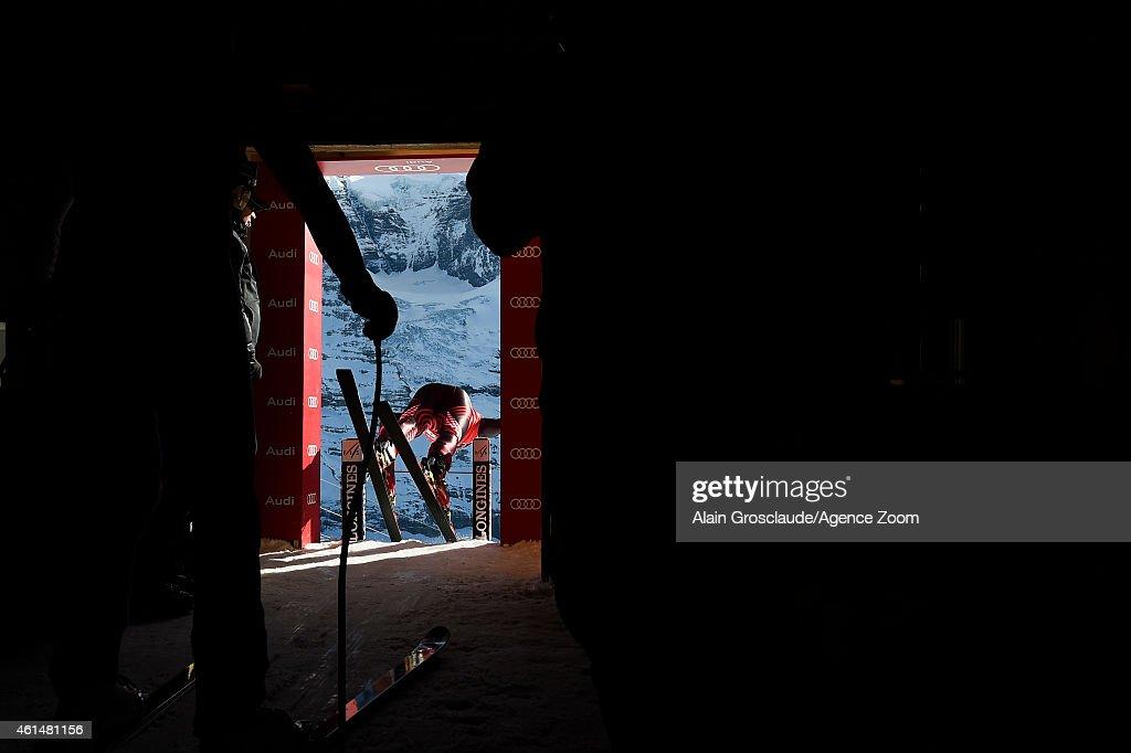 Natko ZrncicDim of Croatia competes during the Audi FIS Alpine Ski World Cup Men's Downhill Training on January 13 2015 in Wengen Switzerland
