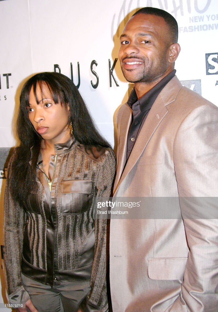 Natlyn Washington and Roy Jones Jr during Olympus Fashion Week Fall 2005 Syd And Roy Private Showing at Parsons School of Design in New York City New...