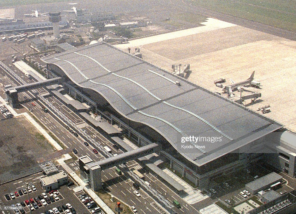 Natori Japan Photo from a Kyodo News helicopter shows Sendai airport's new terminal building in Miyagi Prefecture The photo was taken on July 7 1997