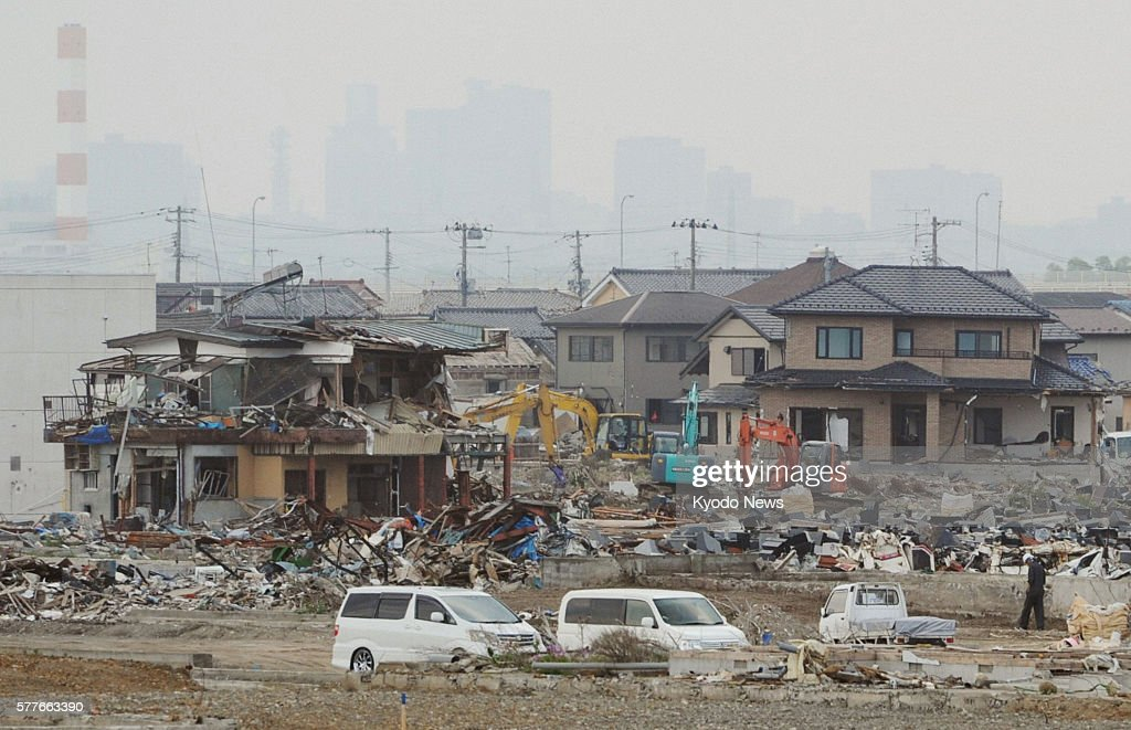 Natori Japan Photo shows the Yuriage district in Natori Miyagi Prefecture on June 13 about three months after a massive earthquake and tsunami...