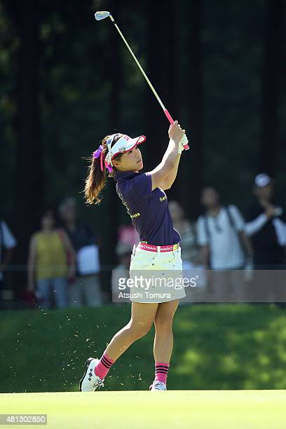 Natsuka Hori of Japan hits her second shot on the 1st hole during the Samantha Thavasa Girls Collection Ladies Tournament 2015 at the Eagle Point...