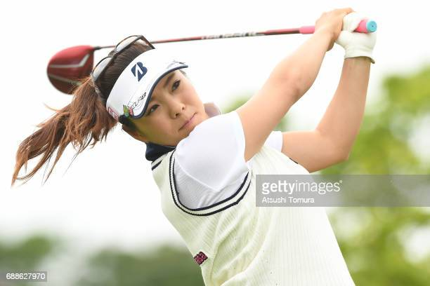 Natsuka Hori of Japan hits her tee shot on the 10th hole during the first round of the Resorttrust Ladies at the Oakmont Golf Club on May 26 2017 in...