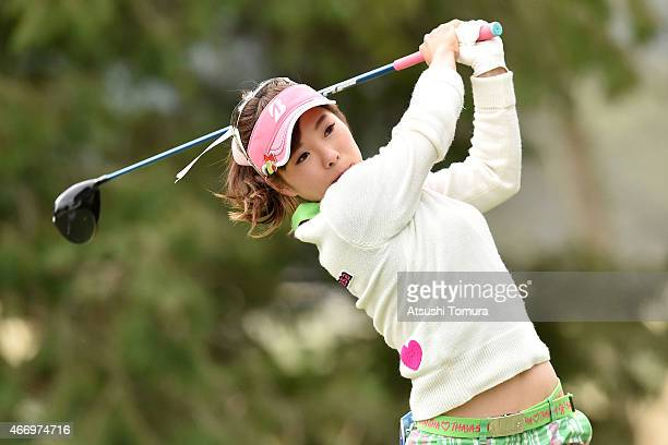 Natsuka Hori of Japan hits her tee shot on the 2nd hole during first round of the TPoint Ladies Golf Tournament at the Wakagi Golf Club on March 20...