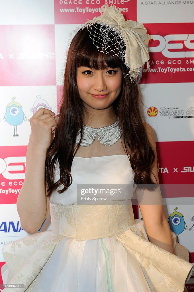 Natsuko Aso meets with the press during the Japan Expo at Paris-nord Villepinte Exhibition Center on July 6, 2013 in Paris, France.