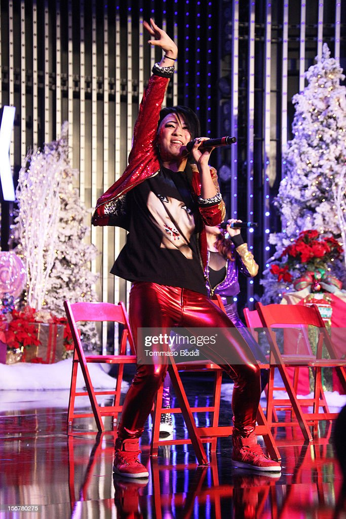 Natsuko Danjo of Blush performs at the 2012 Hollywood Christmas Parade Concert held at Universal CityWalk on November 20, 2012 in Universal City, California.