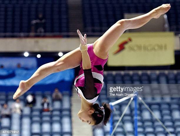 Natsumi Sasada competes in the Balance Beam during day two of the All Japan Artistic Gymnastics Individual All Around Championships at Yoyogi...