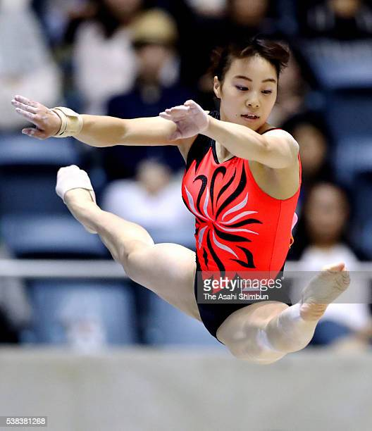 Natsumi Sasada competes in the Floor during day two of the AllJapan Gymnastic Appratus Championships at Yoyogi National Gymnasium on June 5 2016 in...