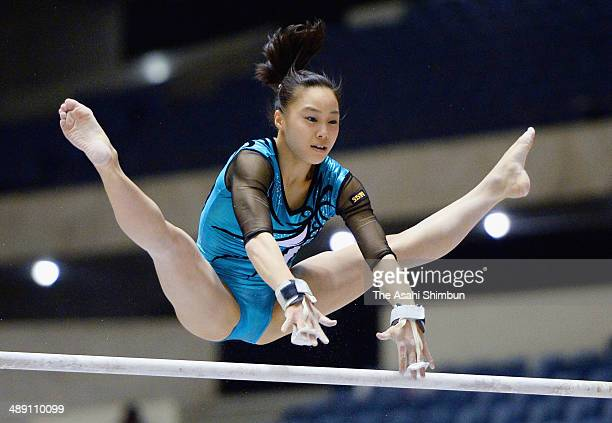 Natsumi Sasada competes in the uneven bars during day two of the All Japan Artistic Gymnastics Individual All Around Championships at Yoyogi National...