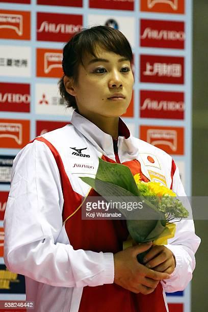 Natsumi Sasada looks on the AllJapan Gymnastic Appratus Championshipsat Yoyogi National Gymnasium on June 5 2016 in Tokyo Japan