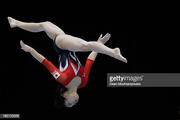 Natsumi Sasada of Japan competes in the Balance Beam during the Womens AllRound Final on Day Five of the Artistic Gymnastics World Championships...
