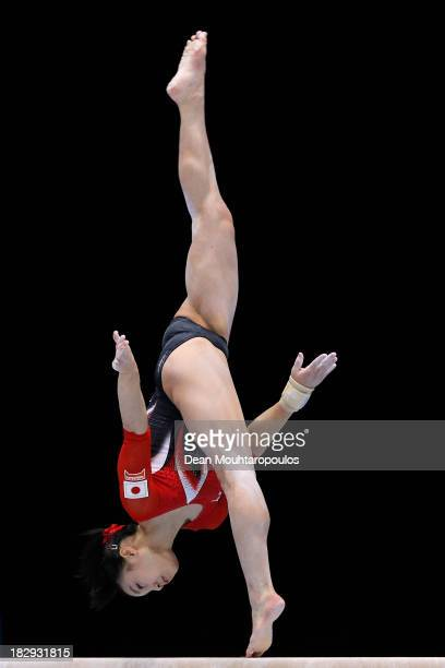 Natsumi Sasada of Japan competes in the Womens Balance Beam Qualification on Day Three of the Artistic Gymnastics World Championships Belgium 2013...