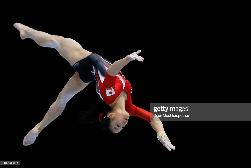 Natsumi Sasada of Japan competes in the Womens Balance Beam Qualification on Day Three of the Artistic Gymnastics World Championships Belgium 2013 held at the Antwerp Sports Palace on October 2, 2013 in Antwerpen, Belgium.