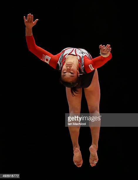 Natsumi Sasada of Japan competes on the Beam during Day One of the 2015 World Artistic Gymnastics Championships at The SSE Hydro on October 23 2015...