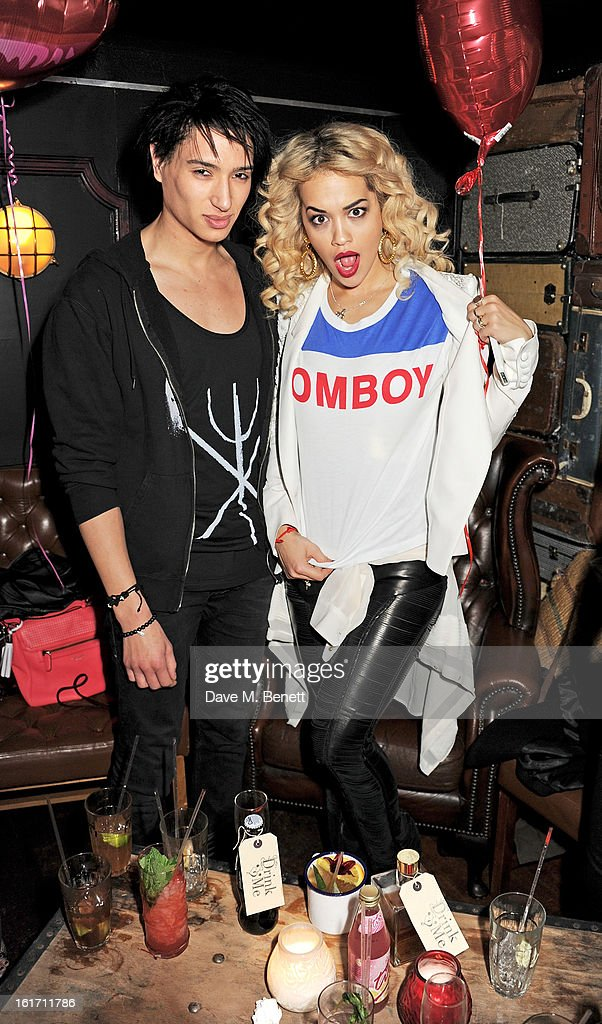 Natt Weller (L) and Rita Ora attend The Rum Kitchen's Valentine's Speed Dating with The Village Bicycle on February 14, 2013 in London, England.