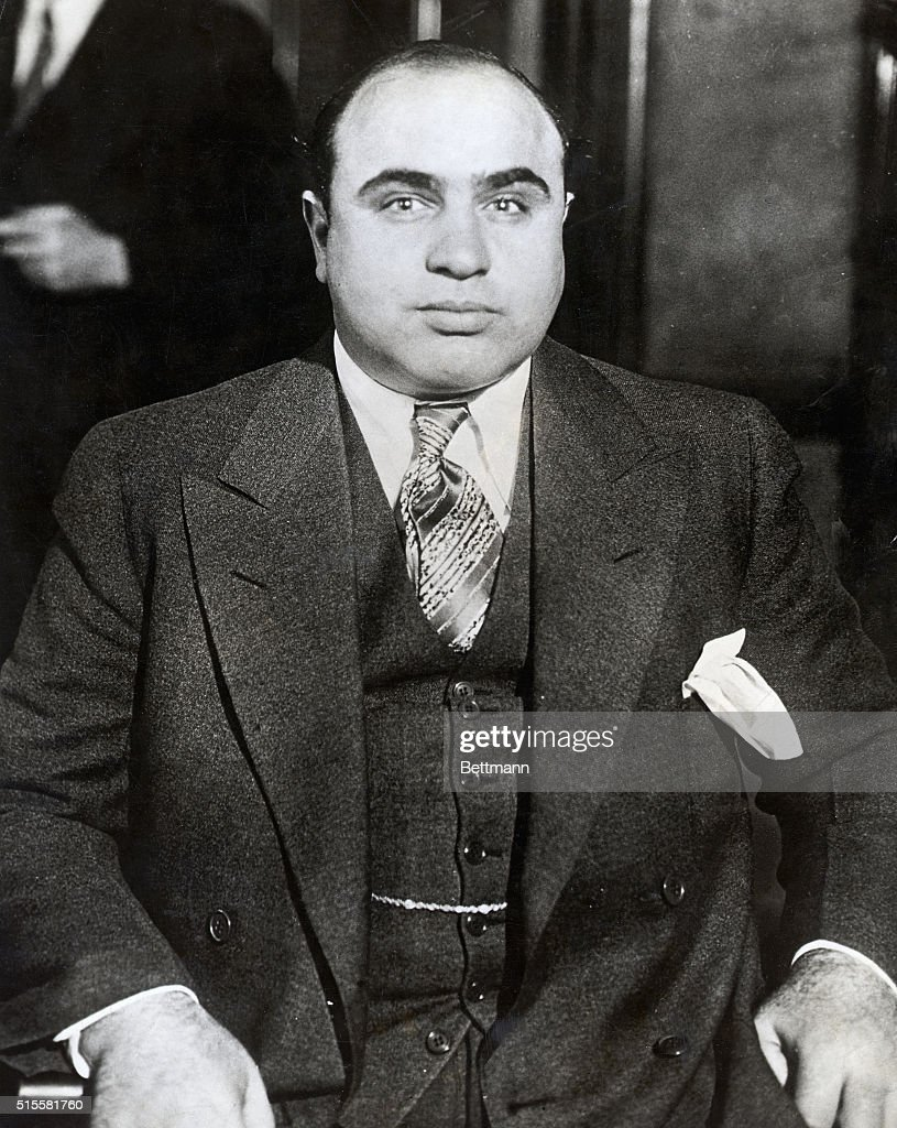 A nattily dressed Capone, who was the king of organized crime in Chicago during the late 1920s and early 1930s.