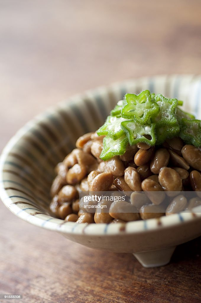 Natto with gumbos : Stock Photo