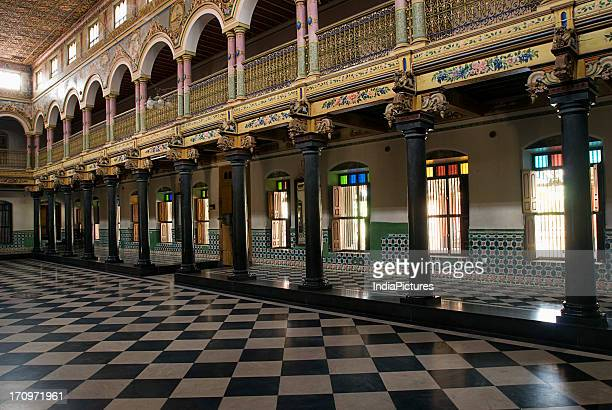 Chettiar house stock photos and pictures getty images for Chettinad house architecture design